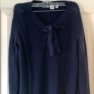 GAP lace up sweater